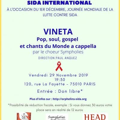 Concert caritatif : Vendredi 29 novembre 2019